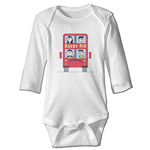 IERGW Happy 9th Birthday Party Balloons Toy Car Baby Onesie Cotton 100% Long Sleeves Bodysuits For Toddler
