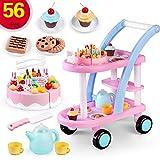 Blueseao Children's Pretend Toys Sets -56pcs Children's Gifts Birthday Cake Shopping Cart Package Pretend Toys