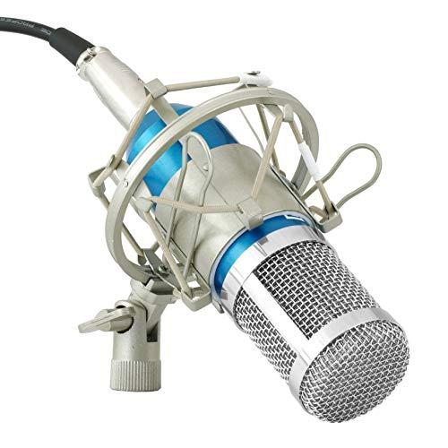 Powerpak BM 800 Blue Silica Gel Professional Condenser Microphone Mics with Metal Shock Mount (Blue)