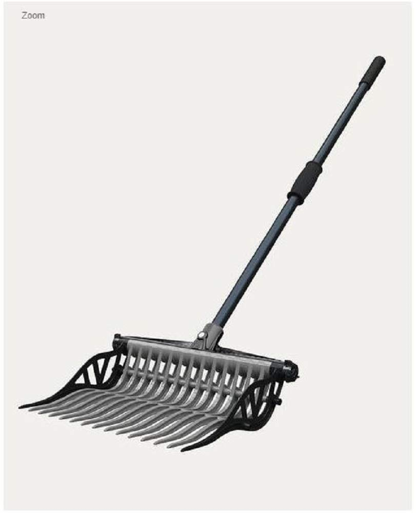 Noble Outfitters Wave Manure Pitch Fork an Unbreakable, Lightweight, and Customizable Manure Fork (Gray/Gray) by Noble