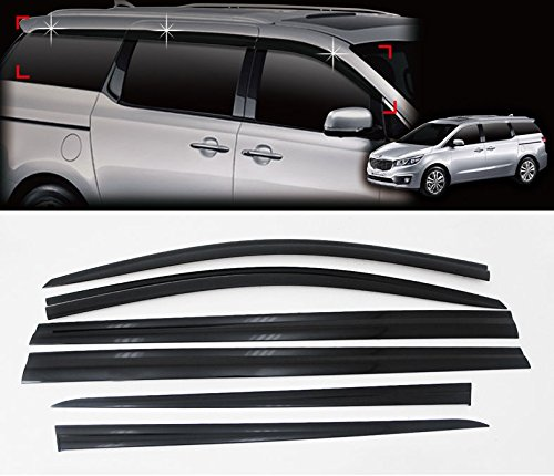 Automotiveapple Sell, AutoClover D011 Smoke Rain Wind Sun Window Visor Vent 6-pc Set for 2015 2016 2017 2018 2019 Kia Sedona : All New Carnival
