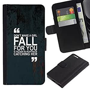 KingStore / Leather Etui en cuir / Apple Iphone 6 PLUS 5.5 / Marques citer Inspiring Text