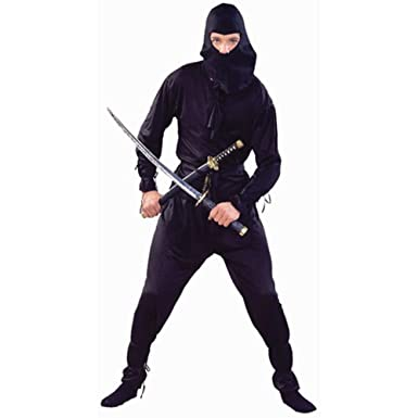 Adult Black Ninja Costume (Size Standard 42-46)  sc 1 st  Amazon.com & Amazon.com: Adult Black Ninja Costume (Size: Standard 42-46): Clothing