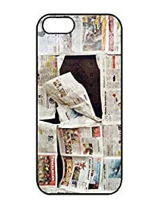 Hot Sell Design In The News 3D Pattern Rubber TPU Gel Iphone 5 5s Cover Case
