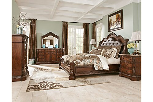 Learn More About B705 Ledelle Panel Bedroom Set (6, 6-Pc King Sleigh Bedroom Set)