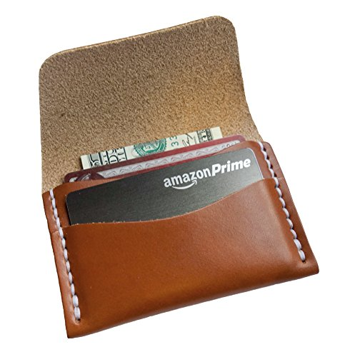 Faler Brand Minimalist Card Case – Minimalist Wickett  Craig Leather Fold Credit Card Wallet (Chestnut)