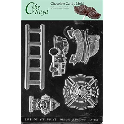 Cybrtrayd J083 Firefighter Kit Chocolate Candy Mold