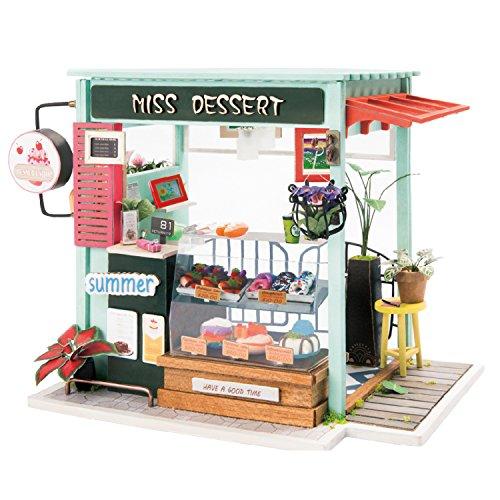 ROBOTIME DIY Miniature Dollhouse with Accessories Mini House Kits ()