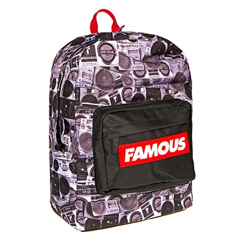Famous Stars & Straps Unisex Adult's Boombones Backpack - One Size, Black/Red by Famous Stars and Straps