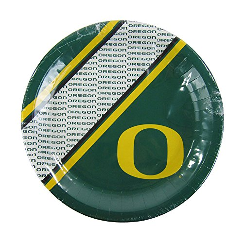 Offically Licensed NCAA Pack of 20 Disposable Plates - Oregon Ducks -