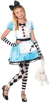 LIRAGRAM ESPAÑA, S.L.L. Disfraz de Alicia Coqueta para niña M1 (6/8A): Amazon.es: Juguetes y juegos