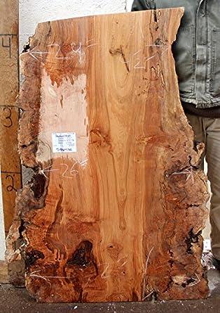 4u0027 Long 27u0026quot; Wide Figured Live Edge Coffee Table Top Natural Big Leaf  Maple