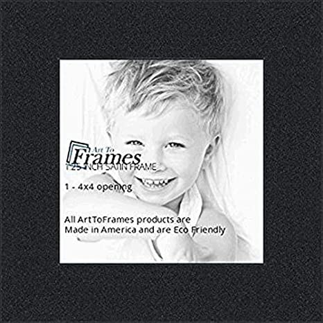 Amazoncom Arttoframes 4x4 Inch Satin Black Picture Frame
