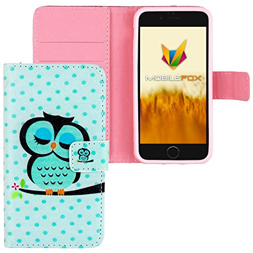 Mobilefox Eule Flip Case Handytasche Apple iPhone 6/S