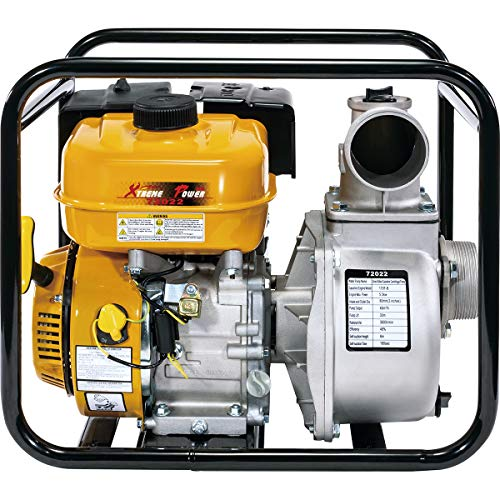 """XtremepowerUS 7HP 3"""" inch Gas Water Pump Gas-Powered Transfer Pump Lifan Engine Portable Gasoline Recoil, Yellow"""