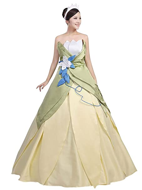 4c577d40a819 Cosrea Cosplay Princess And The Frog Princess Tiana Classic Cosplay Costume  Custom Sizing (Medium)