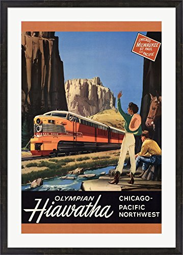 Hiawatha 1952 Framed Art Print Wall Picture, Espresso Brown Frame, 31 x 43 inches