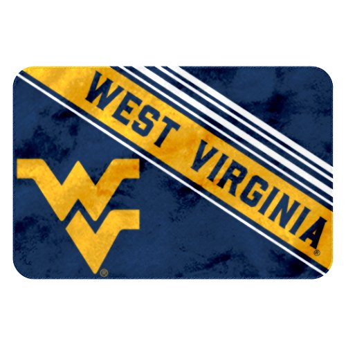 West Virginia Mountaineers Floor (The Northwest Company Officially Licensed NCAA West Virginia Mountaineers Raschel Rug with Non-Skid Backing, 20
