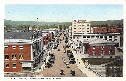 Reno Nevada Virginia Street Scene Historic Bldgs Antique Postcard - Reno Virginia