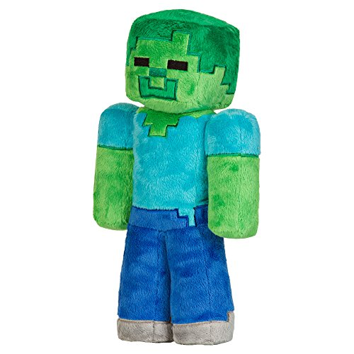 "JINX Minecraft Zombie Plush Stuffed Toy, Multi-Colored, 12"" Tall"