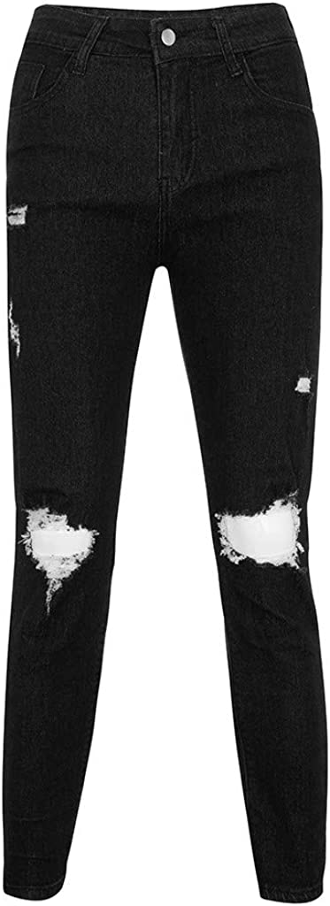 beautyjourneylove Jeans Uomo Stretti alla Caviglia,Pantaloni Jeans lavati con Fori Distrutti Skinny Slim Fit,Allungare Jogger Autunno Inverno Alunno Casuale Cowboy Pantaloni Handsome