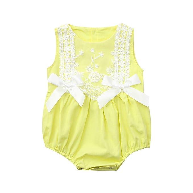 DE Baby Mädchen Kleinkind Ärmellose Strampler Overall Outfits Sunsuit Sommer