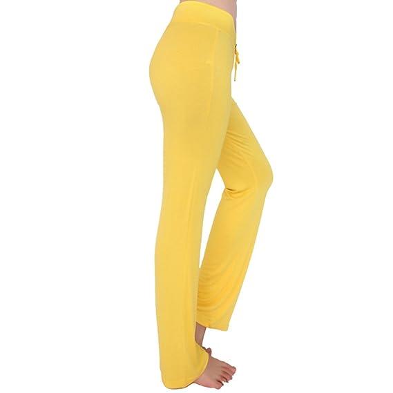 Cayuan Alta Pantalones Cintura Elástica Palazzo Cómodos Mujeres dxBoerC