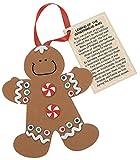 Legend of the Gingerbread Man Foam Ornament Craft Kit-makes 12
