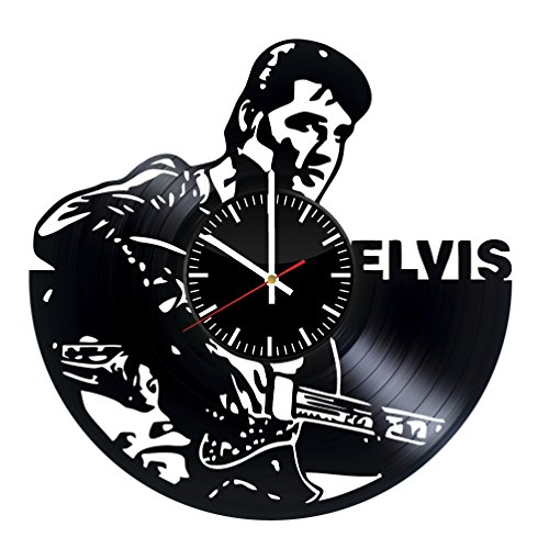 (Fun Door Elvis Presley Handmade Vinyl Record Wall Clock for Birthday Wedding Anniversary Valentine's Mother's Ideas for Men and Women him and)