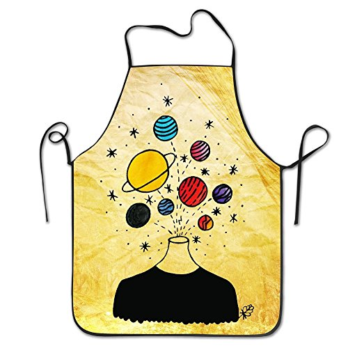 Minimalist Popping Planets Kitchen Apron Comfortable Minimalist Cooks Dinner