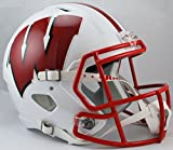 NCAA Wisconsin Badgers Full Size Speed Replica Helmet, Red, Medium