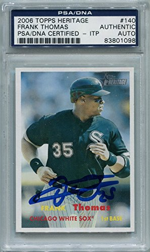White Autographed Baseball (Frank Thomas Chicago White Sox PSA/DNA Certified Authentic Autograph - 2006 Topps Heritage (Autographed Baseball Cards))