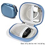 Hard EVA protective case for Golf GPS for GolfBudy Voice, Voice 2, Bushnell NeoGhost, Garmin 010-01959-00 Approach G10, Mesh pouches on both lid and base for GPS and cable separatedly (Frosted Blue)