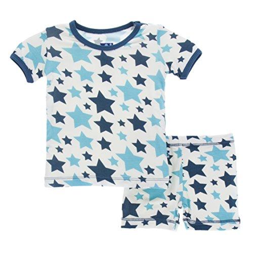 Confetti Pajamas (KicKee Pants Little Boys Print Short Sleeve Pajama Set with Shorts, Confetti Star, Boys 7 Years)