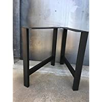 H shape metal legs, set of 2, metal table legs, bench legs, metal legs for furniture, coffee table legs, steel legs, steel table legs.