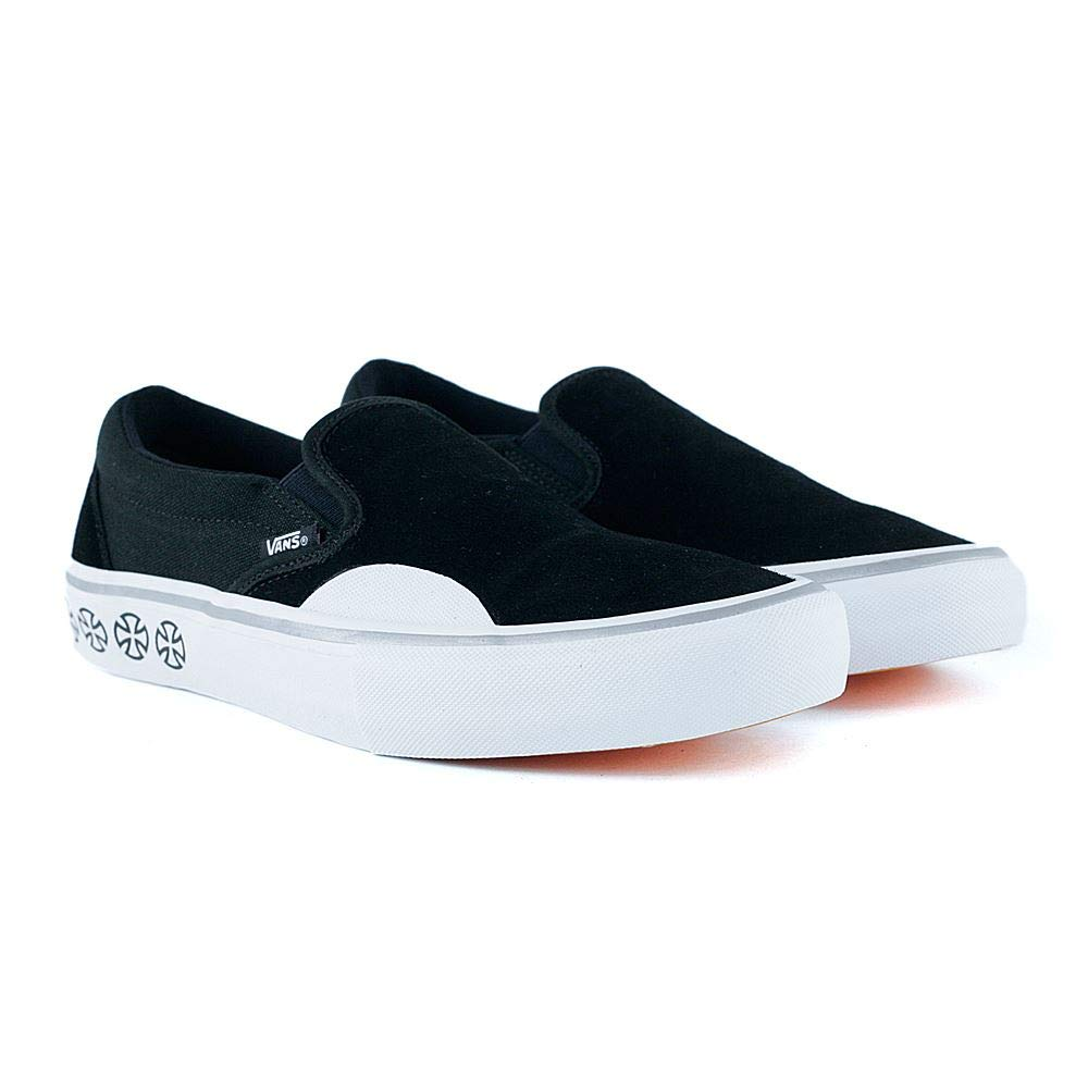 Vans x Independent Slip-On Pro Sneakers (Black/White) Mens Classic Skate  Shoes
