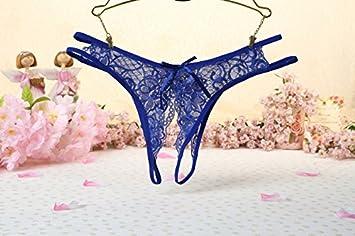b690804f6630 MSAJ Braguitas Abiertas de Encaje Sexy para Mujer Bragas ...