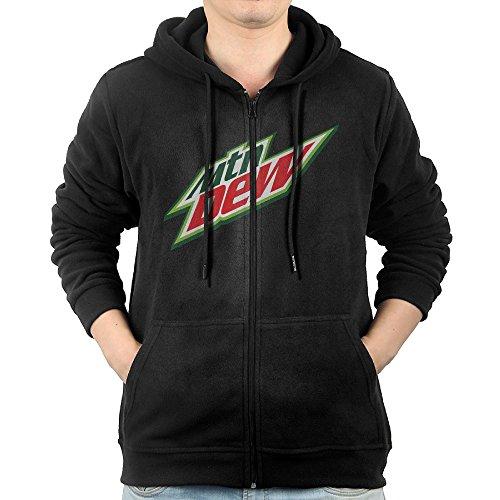 Men's Mtn Dew Drink Logo Full-Zip Hoodie Sweatshirt XXL