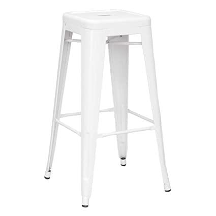 Excellent Amazon Com Metro Backless Bar Stool White Set Of 4 Andrewgaddart Wooden Chair Designs For Living Room Andrewgaddartcom