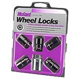 McGard 24548 Chrome/Black, 1/2-Inch-20 Thread Size) Cone Seat Wheel Lock, Set of 5)