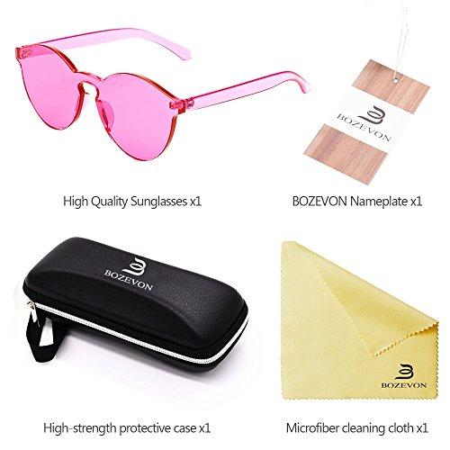 del ojo Unisex Caramelo Gato de Eyewear Color Gafas del del el de Integradas UV400 Las C6 Integraron BOZEVON Rosa Eyewear Rojo XwTIn6xqpg