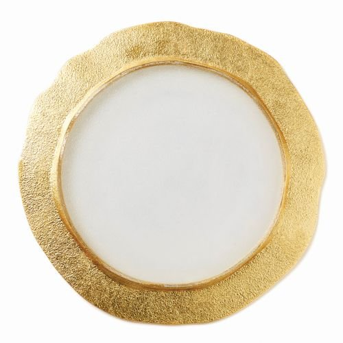 - Vietri Rufolo Glass Gold Organic Service Plate/Charger