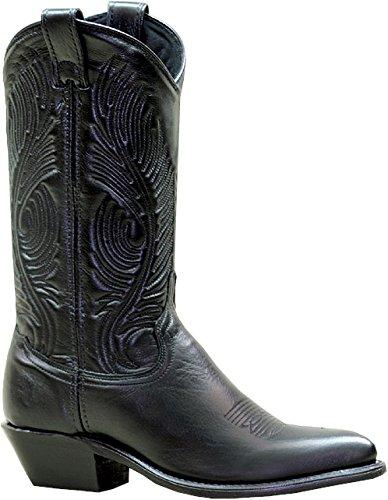 Abilene Women's Cowhide Cowgirl Boot Pointed Toe Black 8 M US
