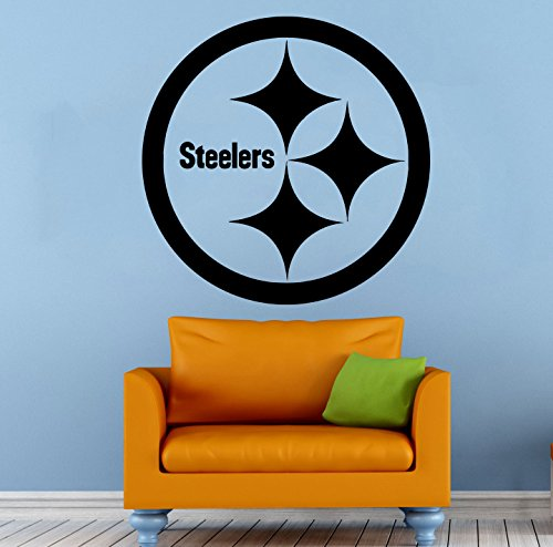Pittsburgh Steelers Wall Vinyl Decal NFL Sticker Emblem Football Team Logo Sport Home Interior Removable Decor