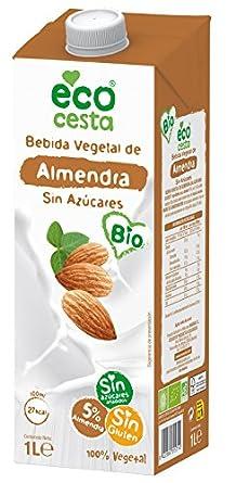 Ecocesta bebida vegetal de almendra sin azúcar Bio 1L: Amazon.es: Alimentación y bebidas