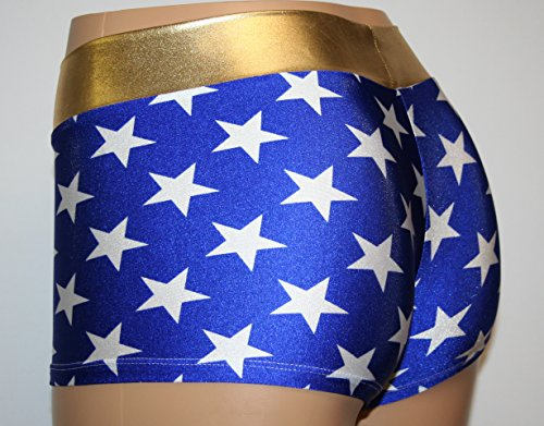 Blue and White Stars with a Gold Waist. Perfect for Cosplay. (Adult Medium)
