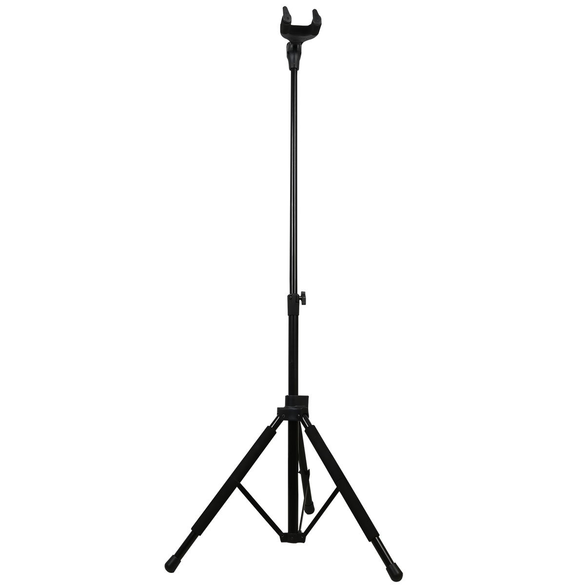 Blueseason Black Tripod Guitar Stand Bracket with Locking Legs and Self-closing Security Gate for Electric, Acoustic and Bass,black