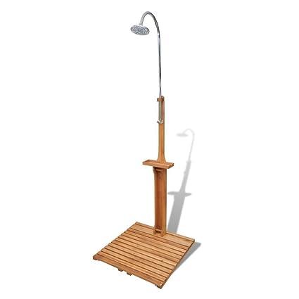 Amazon.com: Alek...Shop Outdoor Shower Stand Wooden Portable Mobile ...