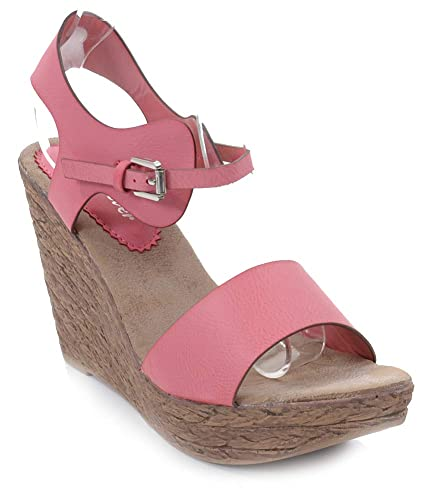 9093c9c06db Jared-8 Faux Leather Platform Wedge Sandal (7.5