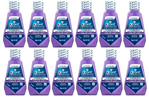 Crest Pro-Health Advanced Anticavity Fluoride Mouthwash/Rinse, Alcohol Free, Travel Size 36 ml (1.2 fl oz) - 12 - Travel Mouthwash Size